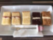 Wedding cake consultation samples tasting