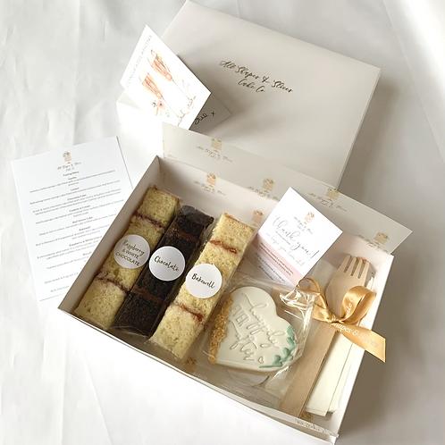 Wedding Cake Sample Box of 3 Flavours