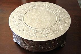 "16"" silver wedding cake stand"