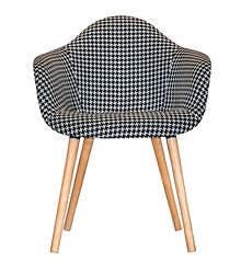 Checkered Black & White Chair