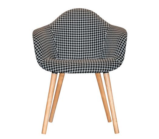 Checkered Black & White Chair