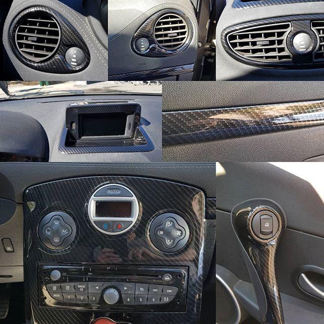 Intérieur complet Clio 4 full carbone