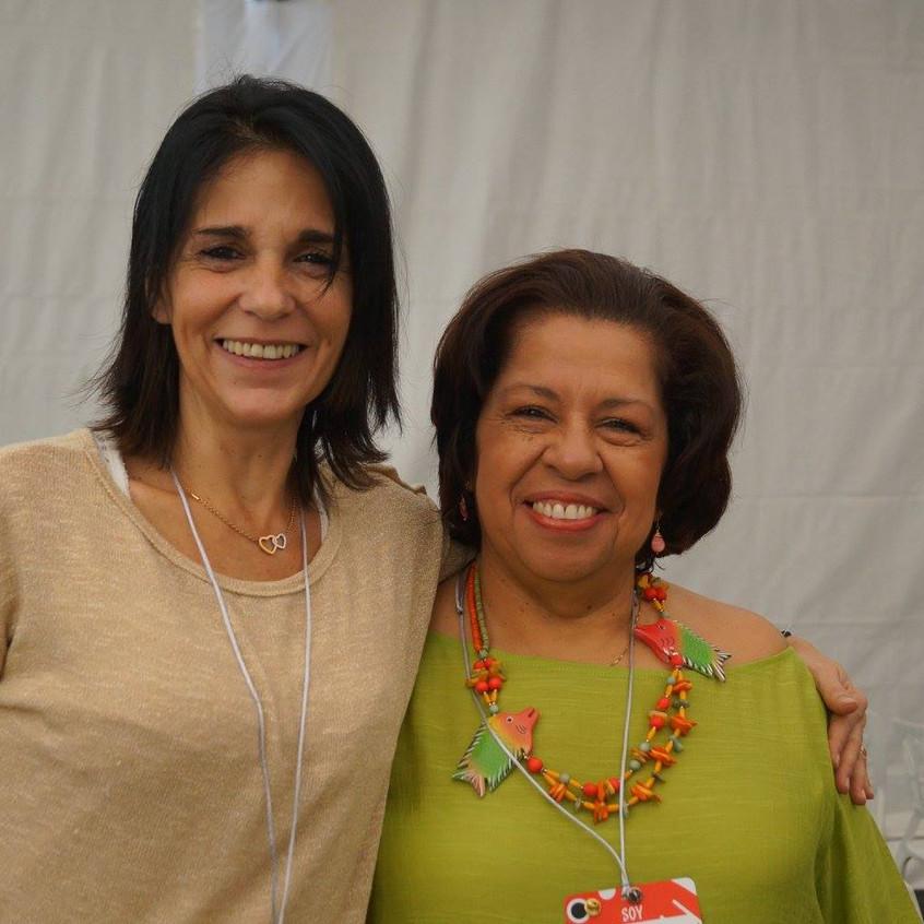 Carina Righi y María Esmeralda Mujica