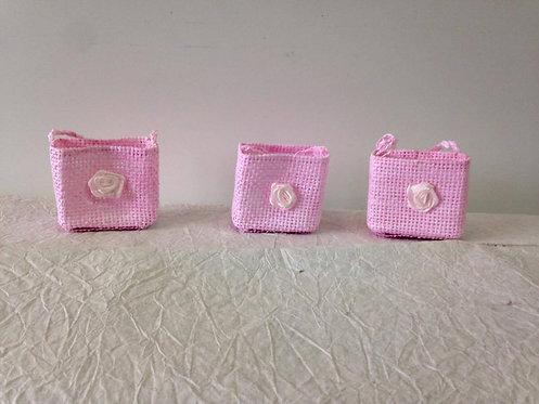 Roze košarice za konfete