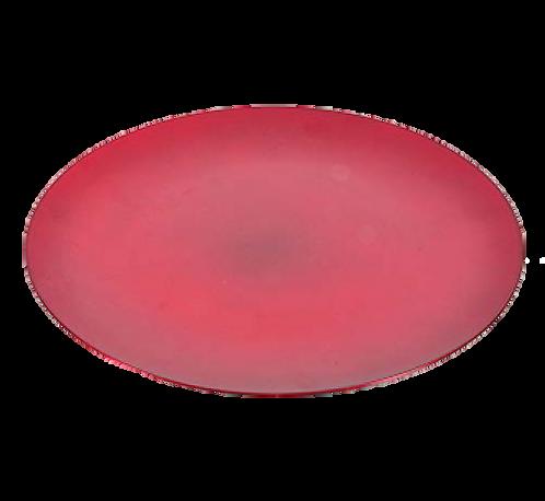 Crveni plastični tanjur