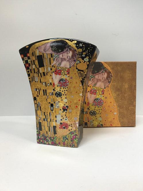 Porculan vaza Klimt - crna 2