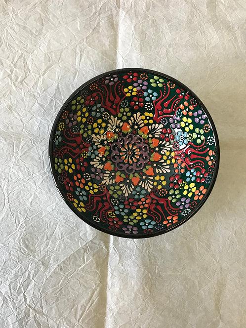 Ručni rad keramička posuda- tamno zelena