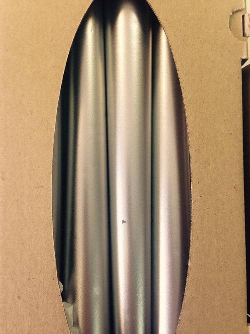 Konusan svijeća ravna srebro - 25 kom