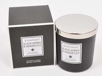Mirisna svijeća- Crni jantar i ljiljan đumbir