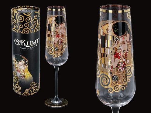 Čaša za šampanjac Poljubac -24k zlato