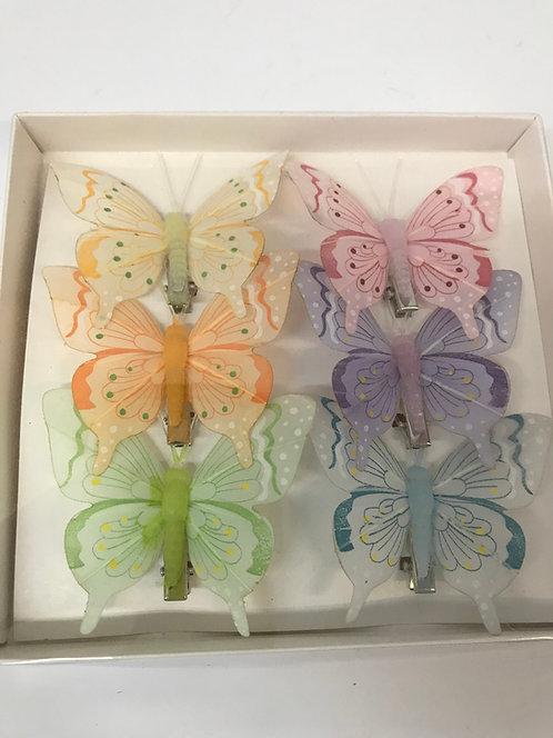 Leptiri sa štipaljkom u boji