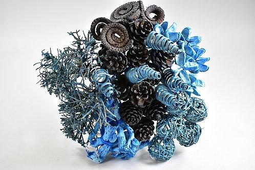 Buket suhih elemenata,plava, 40 kom