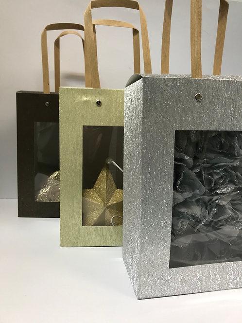 Kutija sa ručkama srebrna 6 kom