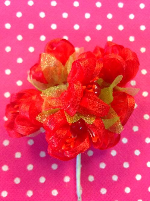 Cvjetovi sa perlom - crveni