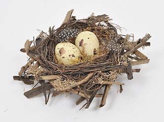 Vijenac gnijezdo 20x20x7cm sa jajima