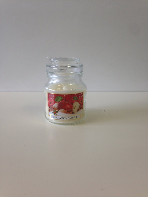 Mirisna svijeća u čaši - jabuka i cimet