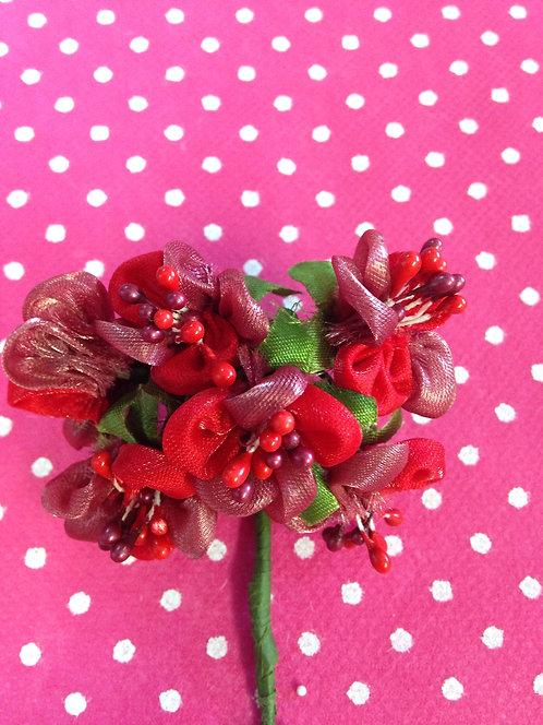 Dvobojni cvjetovi crveni