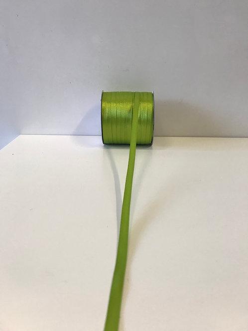 Saten traka zelena jabuka 6 mm x 100 m