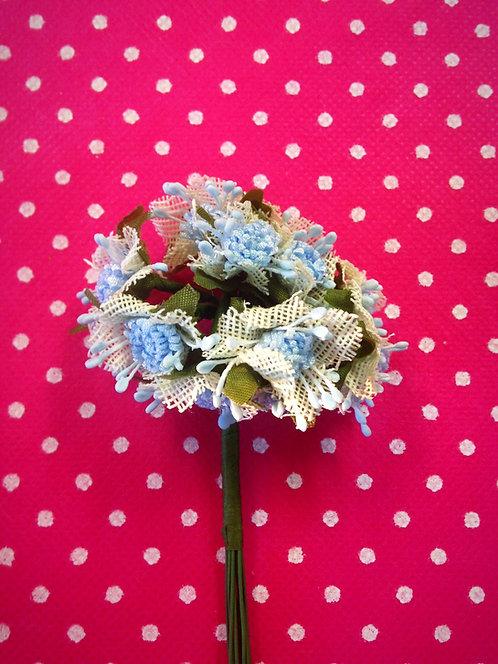 Krpeni cvjetovi - plavi