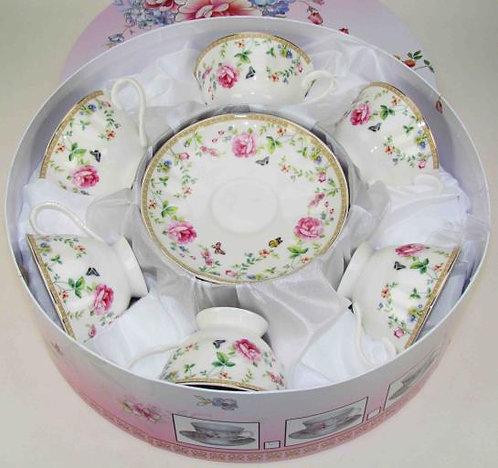 Set 6 šalica u okrugloj kutiji