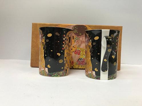 Set dvije Klimt šalice u kutiji - crne