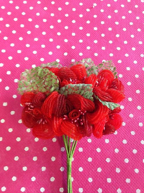 Crveni cvijet sa listom 2411