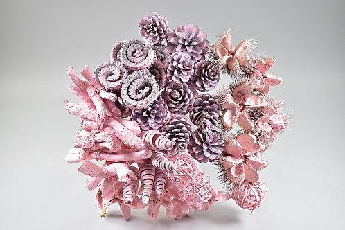 Buket suhih materijala, roza, 40 kom