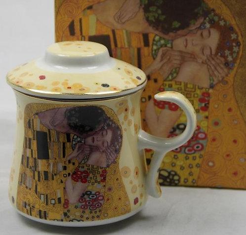 Šalica Klimt za čaj sa poklopcem i cjedilom