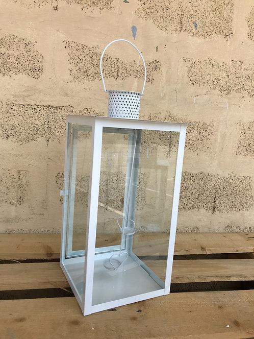 Lanterna bijela 23x23x44,5 cm