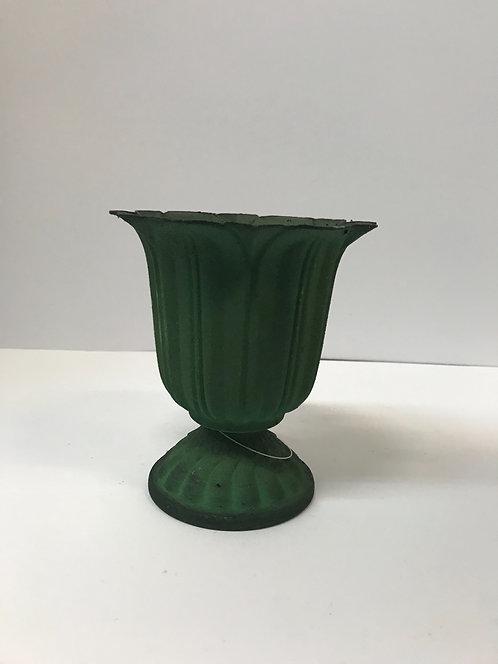 Metalna dekorativna posuda zelena