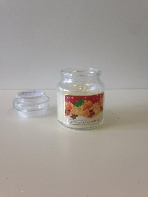 Mirisna svijeća u čaši - cimet i naranča
