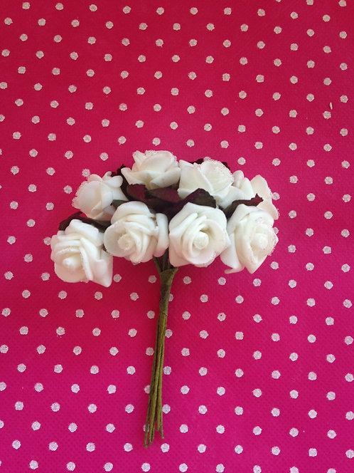 Ružice smrznute bijele