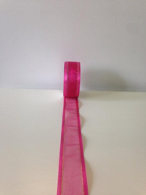 Traka sa ukrasnim rubom - ružičasta