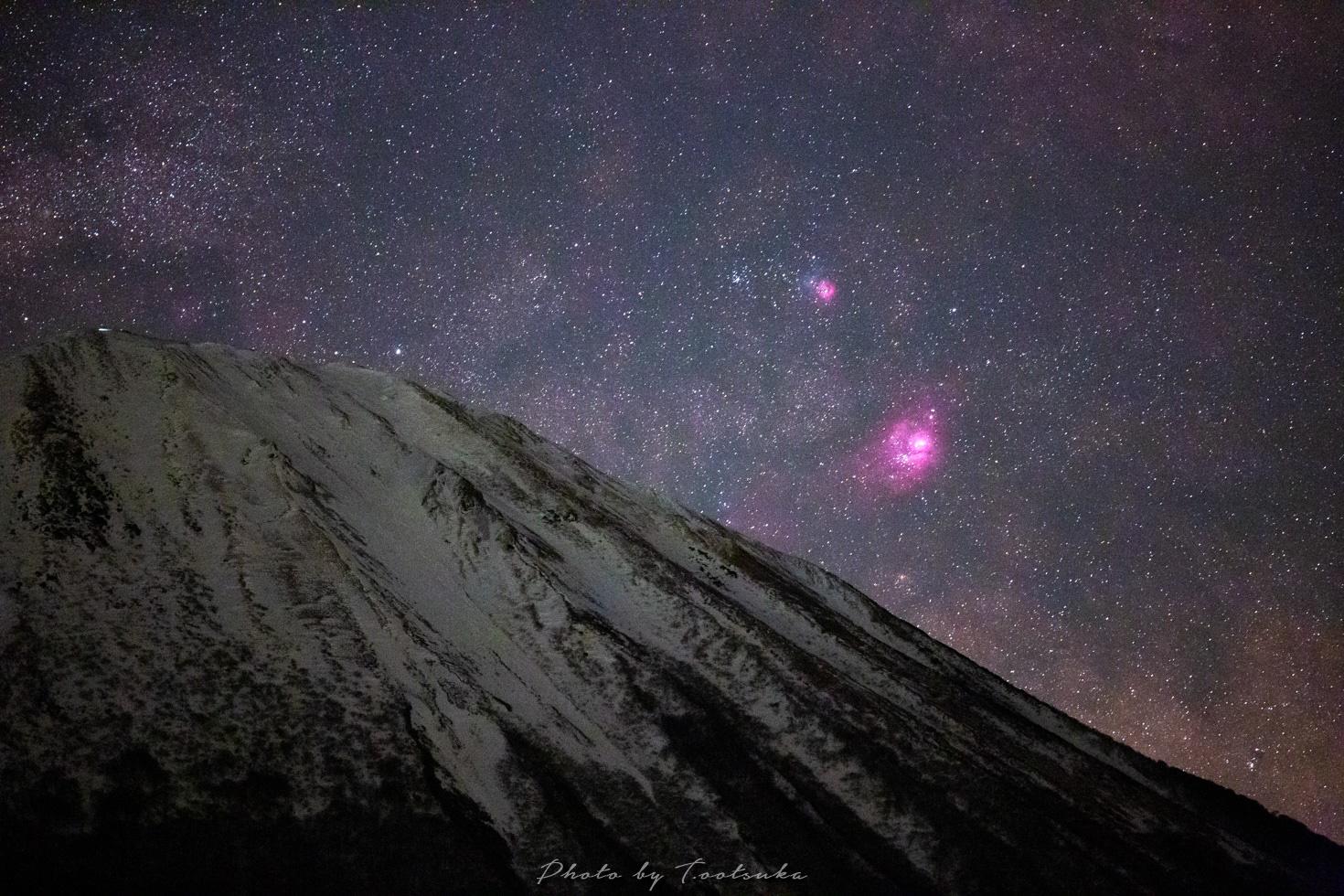 大山といて座の星雲