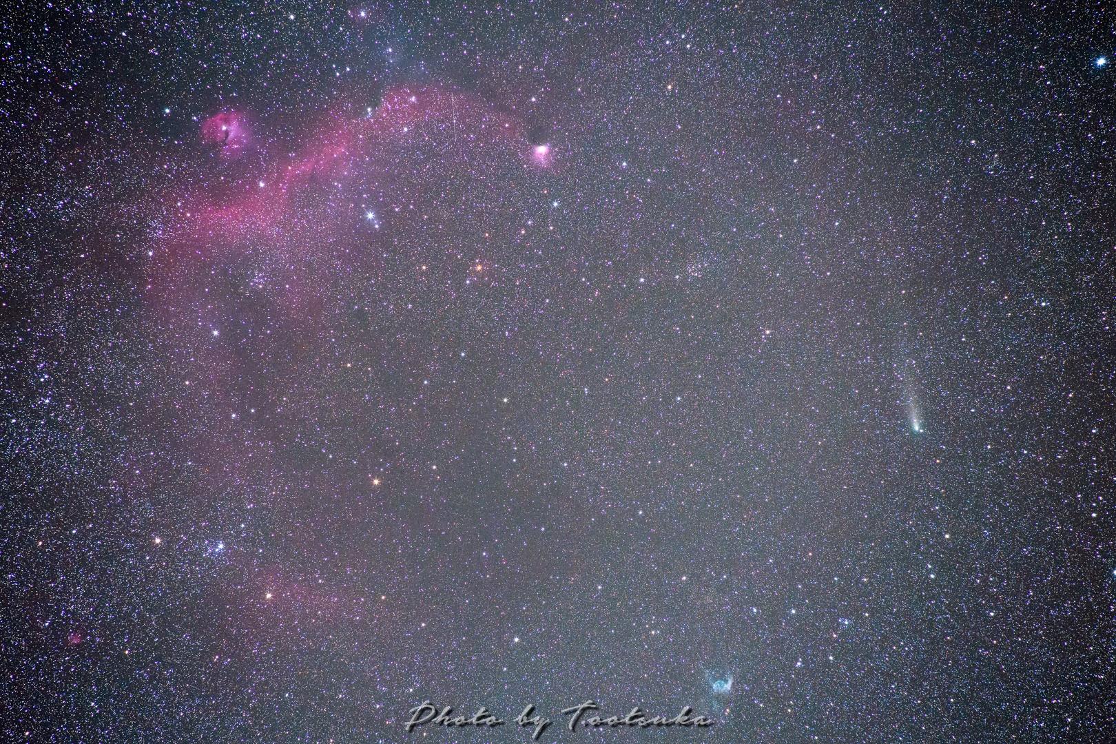 かもめ星雲と彗星