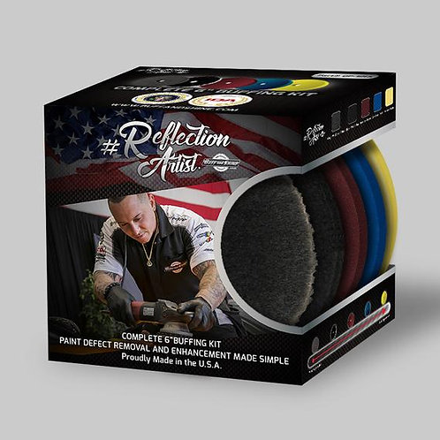 Buff and Shine Reflection Artist 6 Inch Pad Kit #QP-6RA Fast Free Shipping