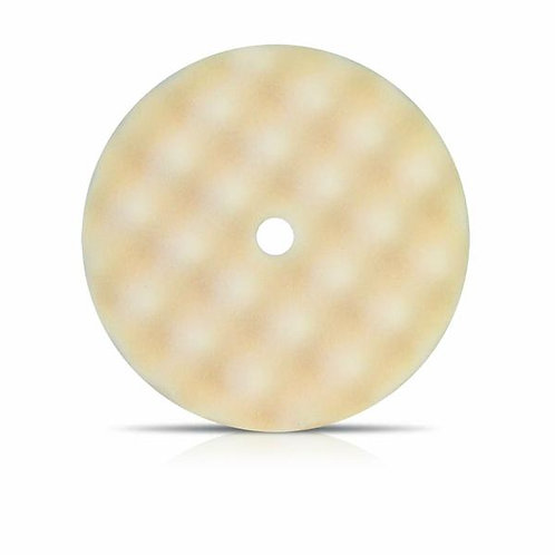 "Buff and Shine 8"" Coarse White Convoluted Face Foam Grip Pad Recessed Back 899WG"