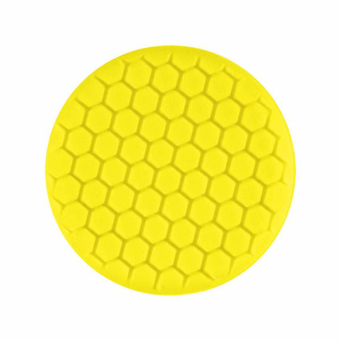 "Buff and Shine 7.5"" Center Ring Yellow Buffing Pad #631RH"