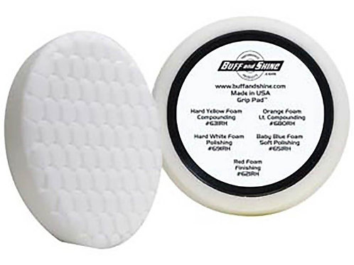 """Buff and Shine 7.5"""" Center Ring White Buffing Pad #691RH"""