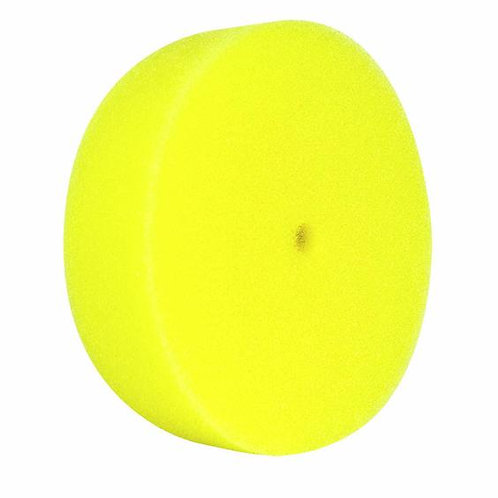 """Buff and Shine 3"""" Yellow Curved Foam Grip Pad, 2 Pack #330G"""