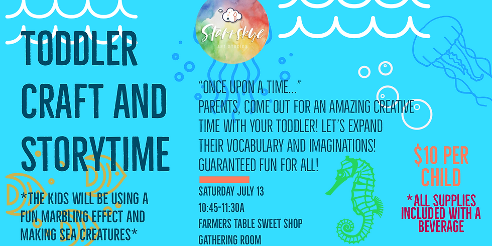 Toddler Craft & Story Time: Sea Creatures