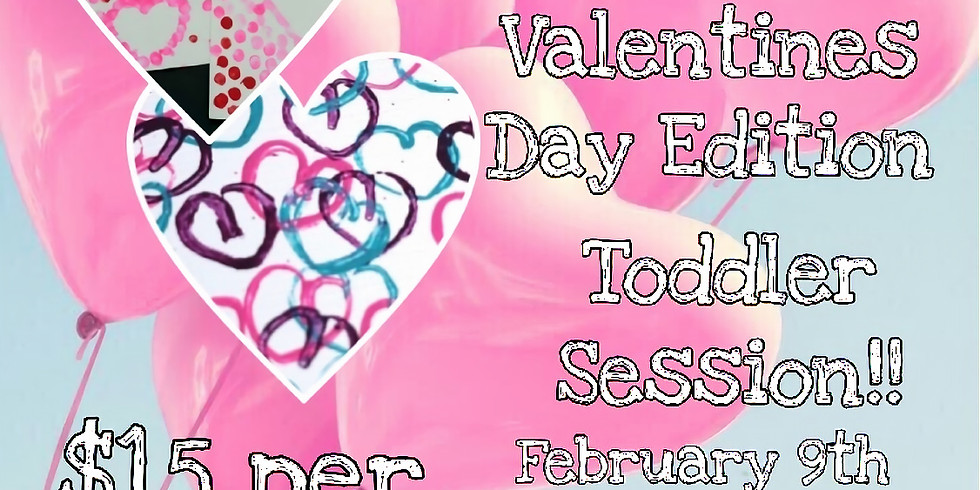 Cookies and Canvases: Valentine's Day Edition! (Toddler Session)