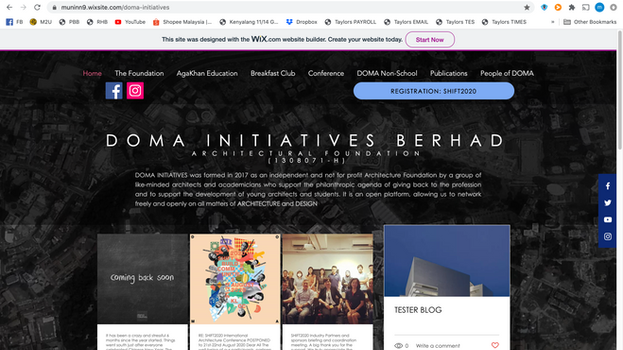 Doma Initiatives' new webpage