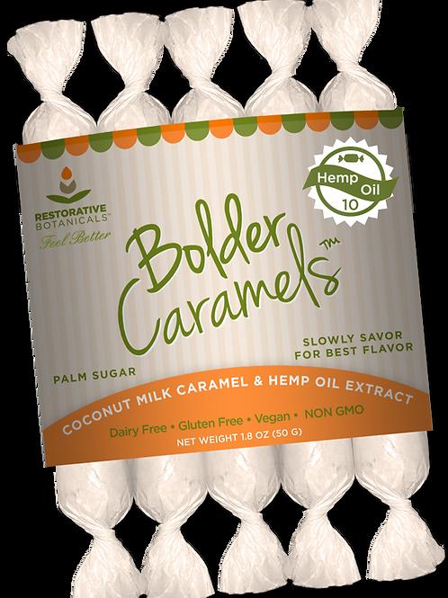 Bolder Caramels Coconut Milk & Extracted Hemp Oil - 3pcs