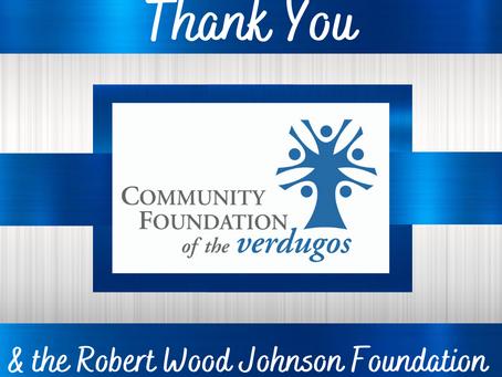 Community Foundation of the Verdugos Awards Grant!
