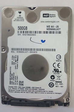 USED Western Digital WD AV-25 / 500GB hard drive 2.5""
