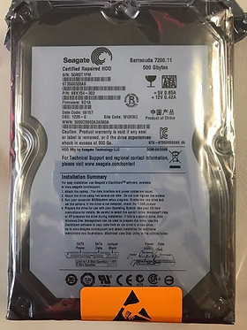 Seagate 500GB Barracuda 7200.11 SATA HDD (Certified Repaired)
