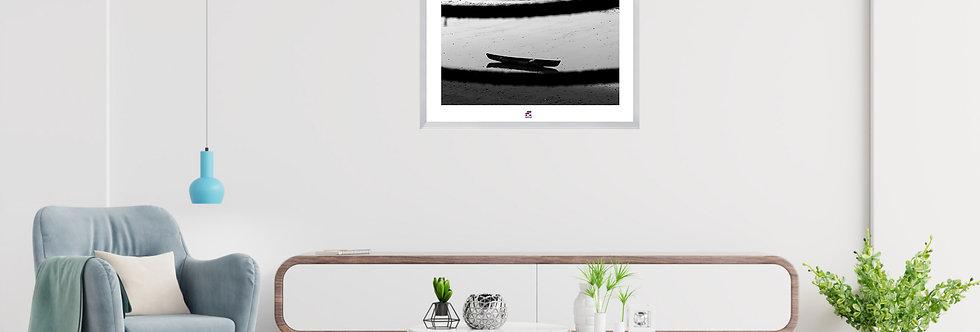 "PHOTOGRAPHIE D'ART ""LA BARQUE SE REPOSE""  COLLECTION ""URBAN STREET"""