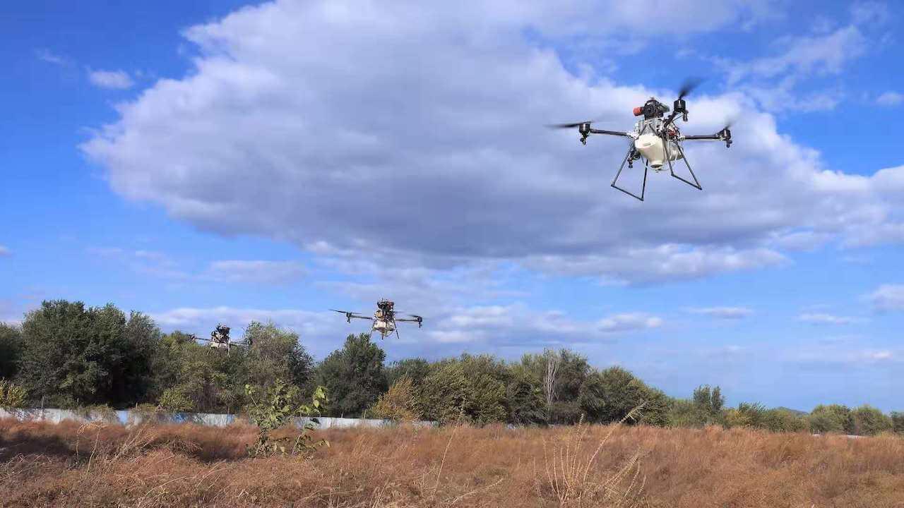 M4H GE Hybrid UAV Sprayer