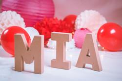 Séance photos Mia  avec création d'un décor en studio